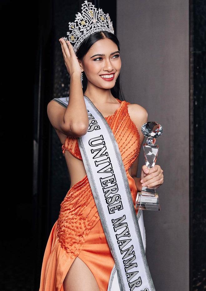 Nhan sắc của Hoa hậu Myanmar gây chú ý vì cầu cứu trên sân khấu Hoa hậu Hoàn vũ Thế giới?-4
