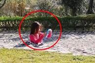 Bức ảnh bé gái bị bê tông 'nuốt chửng' khiến dân mạng bứt rứt không hiểu, sự thật đơn giản mà chỉ người tinh mắt lắm mới nhìn ra