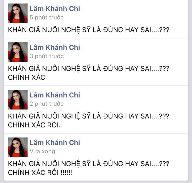 Lâm Khánh Chi nhập cuộc khẩu chiến khán giả nuôi nghệ sĩ của bà Phương Hằng, nói gì mà trong 5 phút sửa tới 4 lần?-2