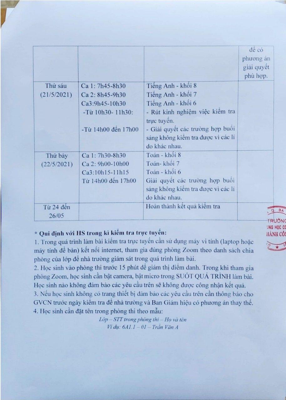 Mới: Trường công lập đầu tiên ở Hà Nội kiểm tra học kỳ thông qua hình thức trực tuyến, chi tiết cụ thể như sau-2