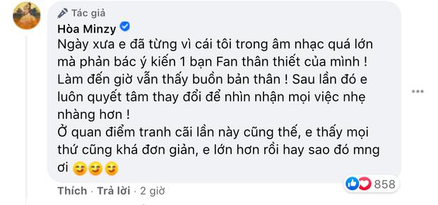 Từng bị antifan tấn công, Hoà Minzy lên tiếng về quan điểm công chúng nuôi nghệ sĩ, hiếm hoi hé lộ lùm xùm với khán giả-3