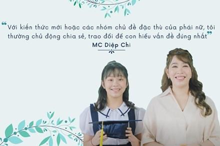 MC Diệp Chi và tác giả Thu Hà gây bất ngờ khi chia sẻ về cách chuẩn bị hành trang tương lai cho con gái