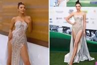 Kim Duyên diện đầm xẻ tứ tung catwalk khiến netizen ná thở sợ lộ hàng