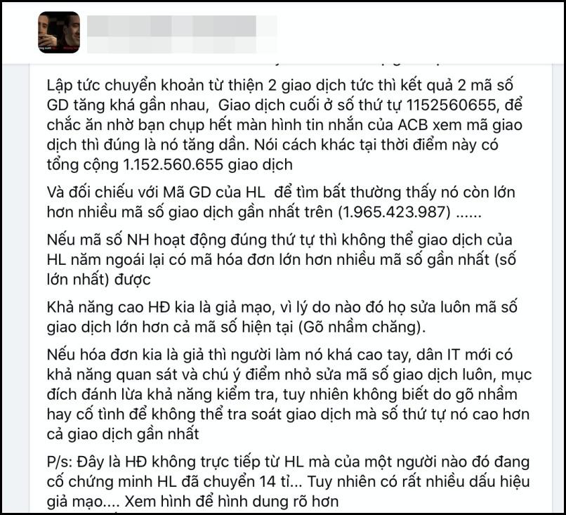 Cộng đồng mạng xôn xao trước nghi vấn bức ảnh Hoài Linh chuyển khoản 14 tỷ đồng là giả-5