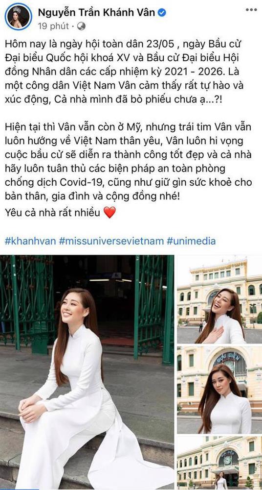 Sao Việt nô nức đi bầu cử: Tiểu Vy, Huyền My dậy sớm làm thanh niên gương mẫu, Khánh Vân từ Mỹ cũng hào hứng hưởng ứng-6