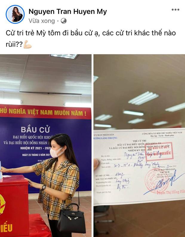 Sao Việt nô nức đi bầu cử: Tiểu Vy, Huyền My dậy sớm làm thanh niên gương mẫu, Khánh Vân từ Mỹ cũng hào hứng hưởng ứng-7