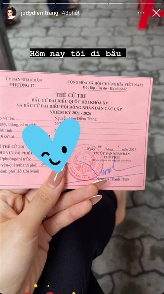 Sao Việt nô nức đi bầu cử: Tiểu Vy, Huyền My dậy sớm làm thanh niên gương mẫu, Khánh Vân từ Mỹ cũng hào hứng hưởng ứng-8
