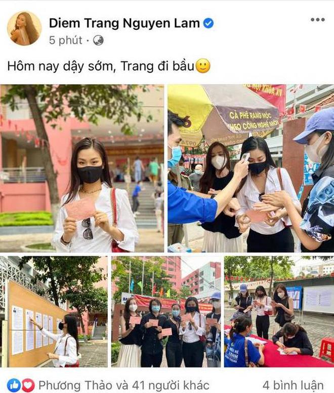 Sao Việt nô nức đi bầu cử: Tiểu Vy, Huyền My dậy sớm làm thanh niên gương mẫu, Khánh Vân từ Mỹ cũng hào hứng hưởng ứng-9