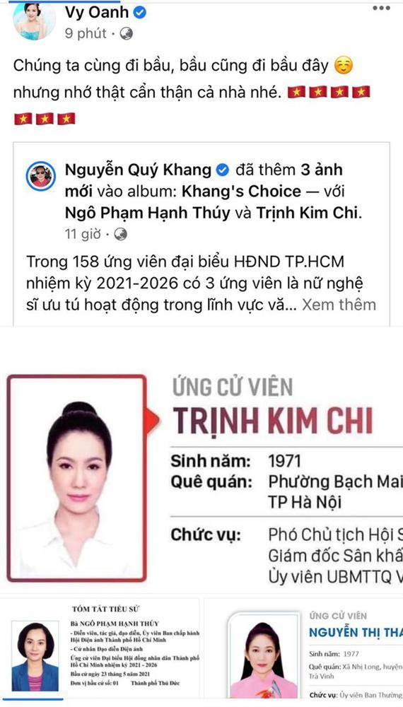Sao Việt nô nức đi bầu cử: Tiểu Vy, Huyền My dậy sớm làm thanh niên gương mẫu, Khánh Vân từ Mỹ cũng hào hứng hưởng ứng-14