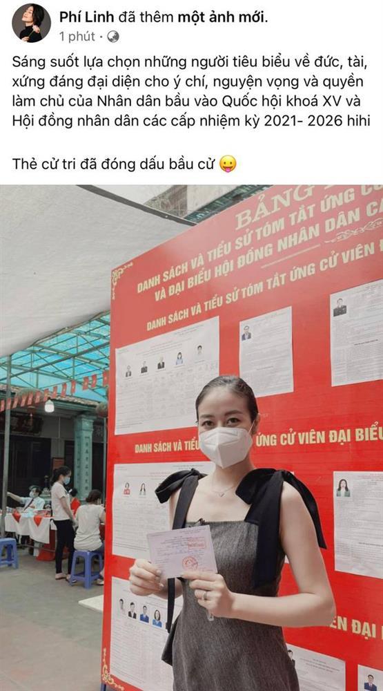Sao Việt nô nức đi bầu cử: Tiểu Vy, Huyền My dậy sớm làm thanh niên gương mẫu, Khánh Vân từ Mỹ cũng hào hứng hưởng ứng-16