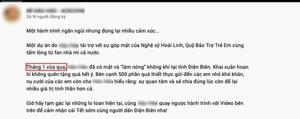 Netizen soi ra clip NS Hoài Linh vẫn đi từ thiện cùng nhãn hàng trong thời gian 6 tháng qua-1