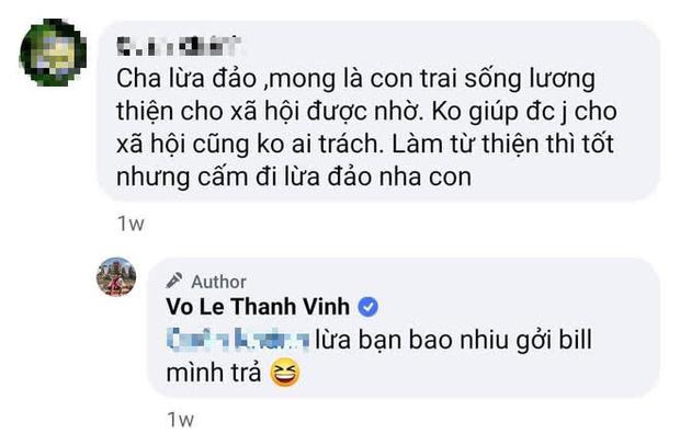 """Bố bị antifan tố lừa đảo, con trai Hoài Linh đáp trả cực căng: Lừa bạn bao nhiêu gửi bill tôi trả""""-2"""