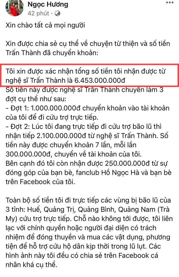 Mẹ Hà Hồ cuối cùng đã nói rõ về chuyện Trấn Thành chuyển 6,45 tỷ tiền cứu trợ miền Trung kèm hình ảnh, thông tin minh bạch-1