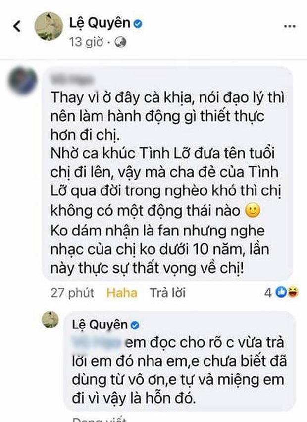 Bị nói vô ơn với cố nhạc sĩ Thanh Bình, Lệ Quyên đanh thép đáp trả khiến netizen cứng họng phải làm ngay điều này?-1