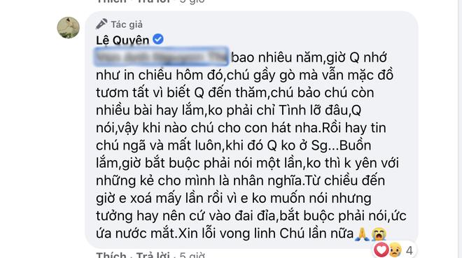 Bị nói vô ơn với cố nhạc sĩ Thanh Bình, Lệ Quyên đanh thép đáp trả khiến netizen cứng họng phải làm ngay điều này?-3