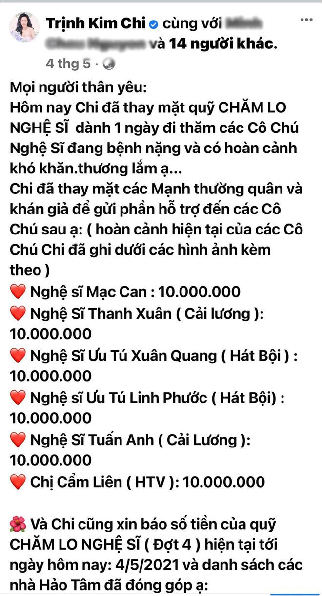 """NS Trịnh Kim Chi lên tiếng khi bị tố dàn dựng bệnh tình của NS Thương Tín để kêu gọi từ thiện: Đừng tàn nhẫn với chúng tôi như vậy""""-10"""