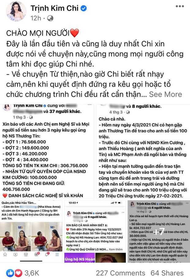 """NS Trịnh Kim Chi lên tiếng khi bị tố dàn dựng bệnh tình của NS Thương Tín để kêu gọi từ thiện: Đừng tàn nhẫn với chúng tôi như vậy""""-1"""