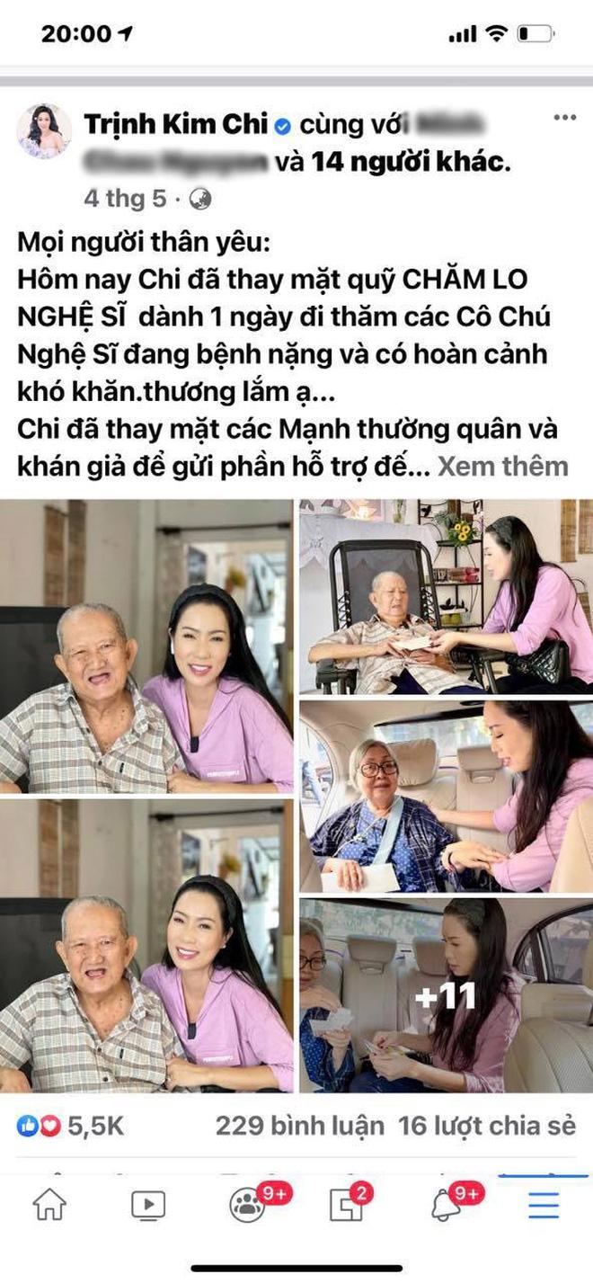 """NS Trịnh Kim Chi lên tiếng khi bị tố dàn dựng bệnh tình của NS Thương Tín để kêu gọi từ thiện: Đừng tàn nhẫn với chúng tôi như vậy""""-9"""