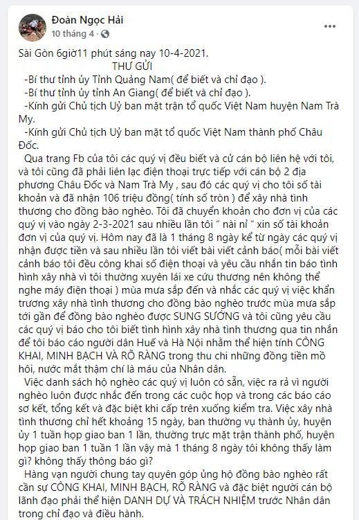 Mong dư luận tha lỗi cho Hoài Linh, ông Đoàn Ngọc Hải bị chất vấn: Ông từng quyết liệt đòi lại 100 triệu tiền từ thiện bị chậm-4