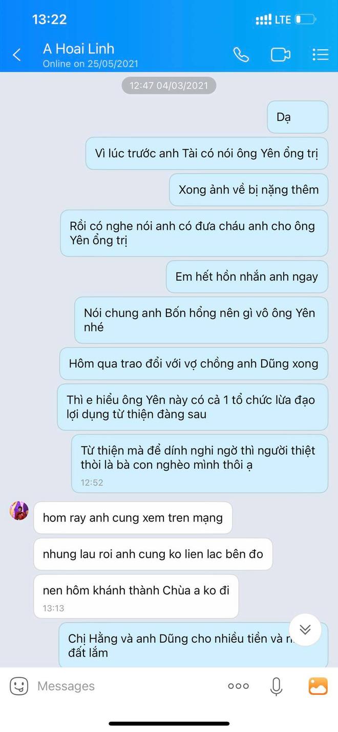 Hé lộ tin nhắn của NS Hoài Linh làm rõ quan hệ với ông Võ Hoàng Yên và thái độ khi bị vợ chồng bà Phương Hằng tố-3