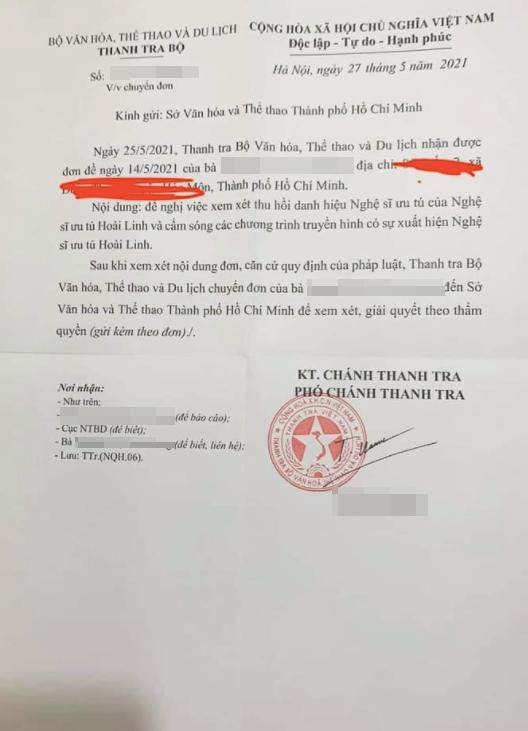 Xuất hiện tờ đơn đề nghị thu hồi danh hiệu NSƯT của Hoài Linh-1