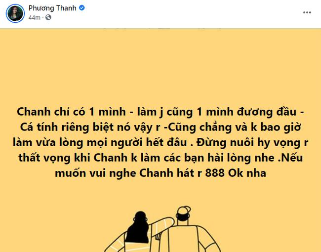 """Trước giờ livestream thanh lọc"""" Vbiz, Phương Thanh lại vừa có chia sẻ đầu tiên-2"""