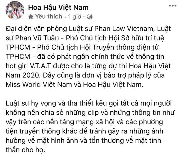 BTC Hoa hậu VN nhờ luật sư vào cuộc, tuyên bố chính thức về nghi vấn diễn viên lộ clip sex của Về Nhà Đi Con từng tham gia thi-2
