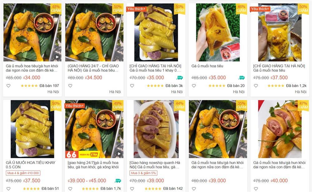 Chợ mạng bạt ngàn gà ủ muối hoa tiêu giá siêu rẻ chỉ 34k/nửa con-1
