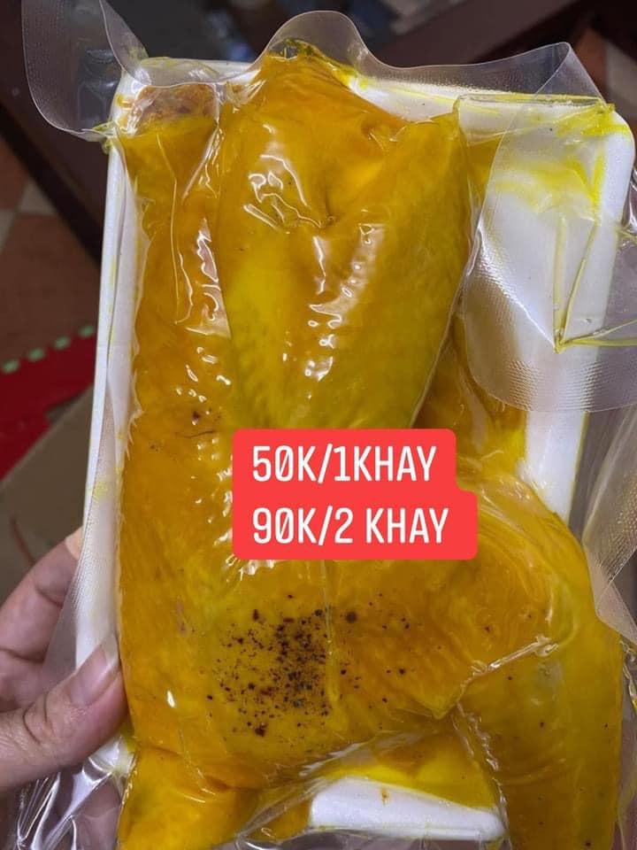 Chợ mạng bạt ngàn gà ủ muối hoa tiêu giá siêu rẻ chỉ 34k/nửa con-3