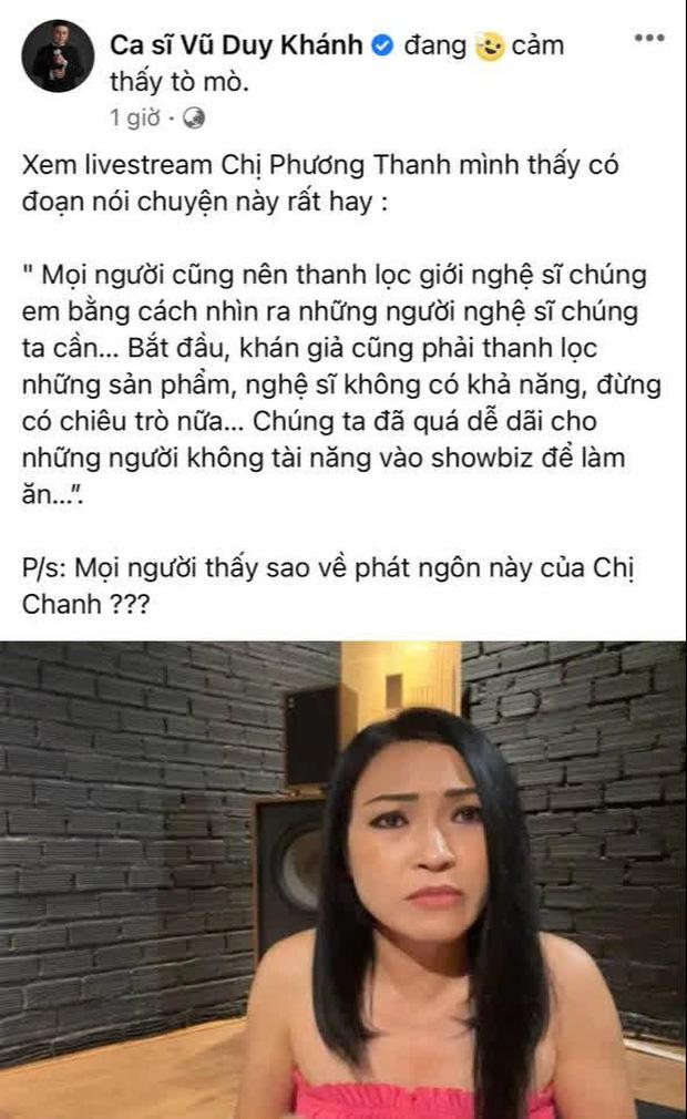 Vũ Duy Khánh đồng tình với phát ngôn của Phương Thanh: Chúng ta quá dễ dãi cho những người không có tài năng vào showbiz làm ăn-1