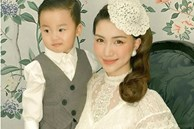 Hòa Minzy chính thức công khai chính diện gương mặt con trai, cậu nhóc có nhiều nét giống bố