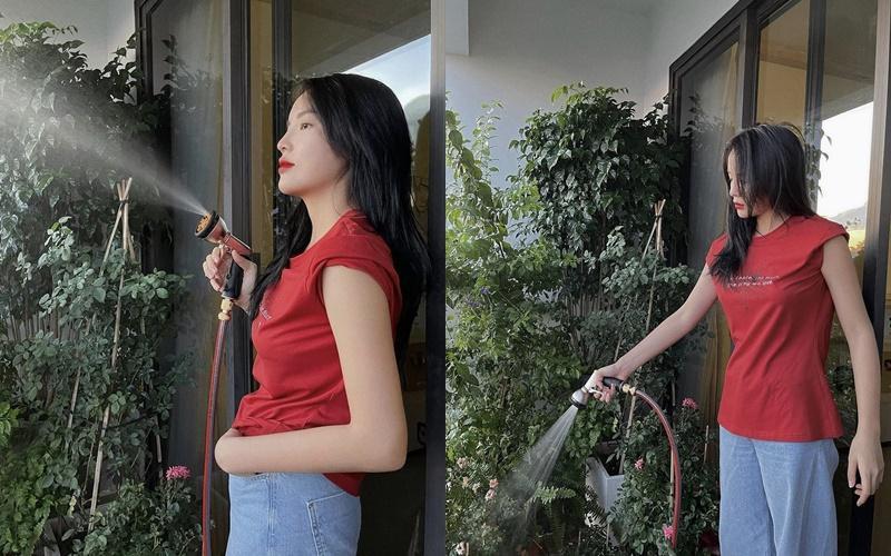 Giãn cách xã hội: Mỹ nhân Việt lên đồ sang chảnh, tận dụng mọi góc nhà sống ảo-8