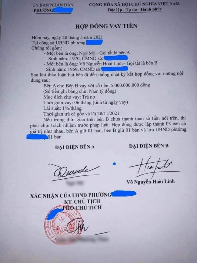 Lan truyền giấy vay nợ 5 tỷ đồng được cho là của Hoài Linh giữa lúc scandal từ thiện đang nóng, luật sư nói gì về tính pháp lý?-1