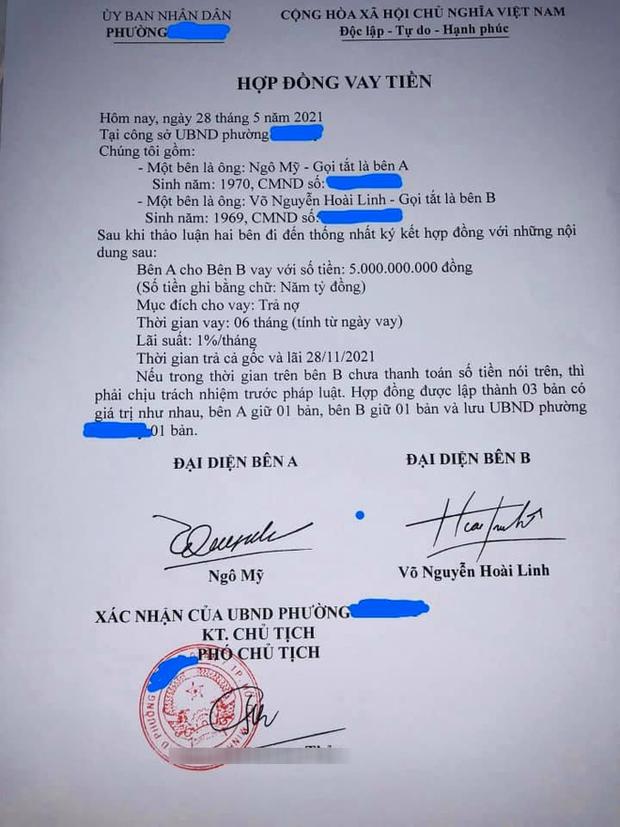 UBND phường Phú Mỹ chính thức thông tin về giấy vay nợ 5 tỷ đồng được cho là của NS Hoài Linh-1