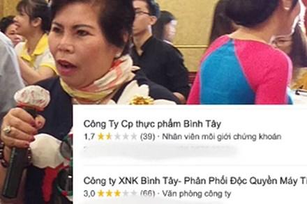 Dân mạng quá khích vote 1 sao cho công ty của bà Lê Thị Giàu nhưng lại vote nhầm, khiến một công ty khác tạm thời phải treo trạng thái