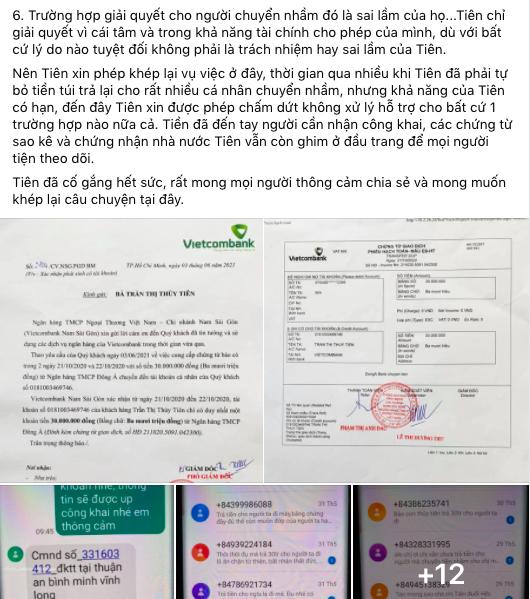 Thủy Tiên chính thức nói về khoản tiền 30 triệu gửi nhầm: Đó là sai lầm của họ, tuyệt đối không phải là trách nhiệm hay sai lầm của Tiên-2