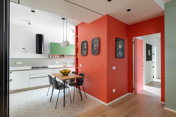 Trang trí nội thất cho gia đình thêm sống động với màu sắc tươi sáng, nhìn tưởng rối mắt mà vẫn sang trọng và cao cấp-11