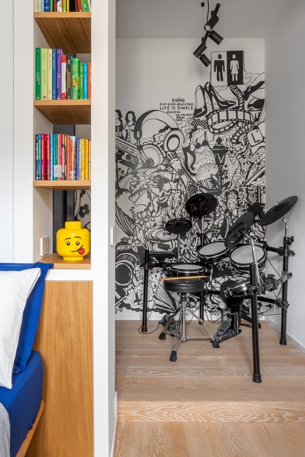 Trang trí nội thất cho gia đình thêm sống động với màu sắc tươi sáng, nhìn tưởng rối mắt mà vẫn sang trọng và cao cấp-27