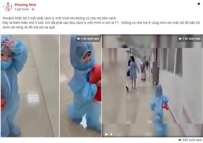 Sự thật bất ngờ đằng sau clip bé gái 3 tuổi mặc đồ bảo hộ kín mít, một mình đi cách ly gây xúc động trên MXH-1