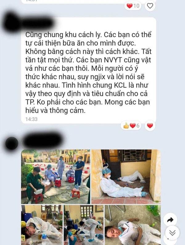 Người phụ nữ than phiền nhân viên khu cách ly đưa cơm muộn cho mình: Những dòng tin nhắn khiến số đông bức xúc-3