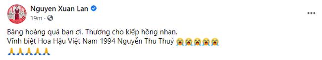 """Dàn Hoa hậu, sao Việt tiếc thương trước sự ra đi đột ngột của Hoa hậu Nguyễn Thu Thủy: Chị ơi, từ giờ chỉ còn bình yên thôi""""-4"""