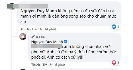 Bị bà Phương Hằng tuyên bố 'lột trần', Duy Mạnh phản ứng gay gắt, dùng từ ngữ thô tục gây choáng-6