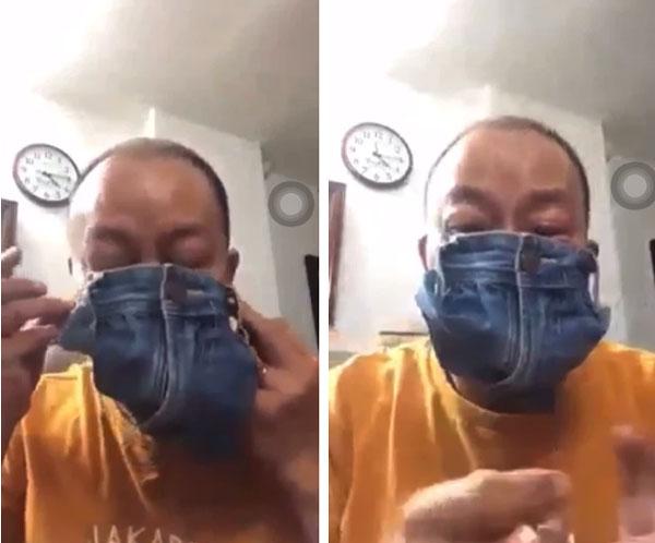 Không chỉ phát ngôn tục tĩu, NSƯT Đức Hải còn gây phản cảm cực độ khi quay clip cắt quần làm khẩu trang-1