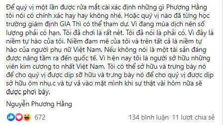 Sau tranh cãi kim cương thật giả với dân mạng, bà Phương Hằng quyết định mời chuyên gia giám định làm cho ra lẽ-1