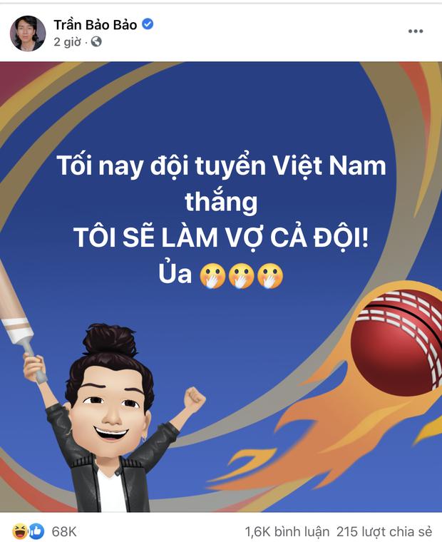 Sao Việt nhuộm đỏ Facebook trước giờ G đội tuyển Việt Nam gặp Indonesia: Jack và dàn mỹ nhân cực cuồng nhiệt, BB Trần hứa làm 1 việc lầy lội-11