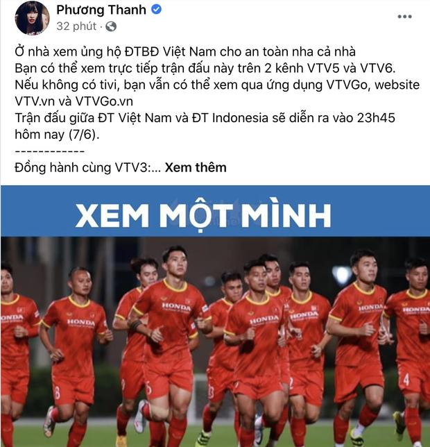 Sao Việt nhuộm đỏ Facebook trước giờ G đội tuyển Việt Nam gặp Indonesia: Jack và dàn mỹ nhân cực cuồng nhiệt, BB Trần hứa làm 1 việc lầy lội-7