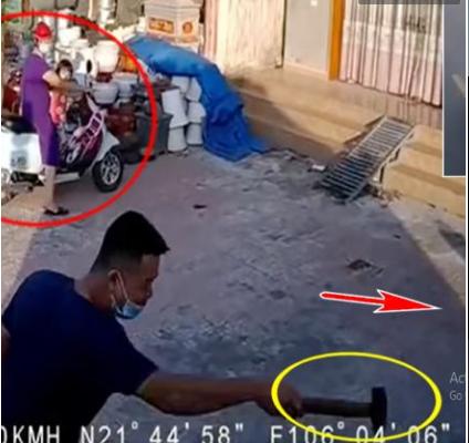 Tài xế xe tải gây tranh cãi khi chèn ép nữ ninja, cầm búa đòi nói chuyện phải quấy ngay giữa đường khiến 2 bà cháu vạ lây-1