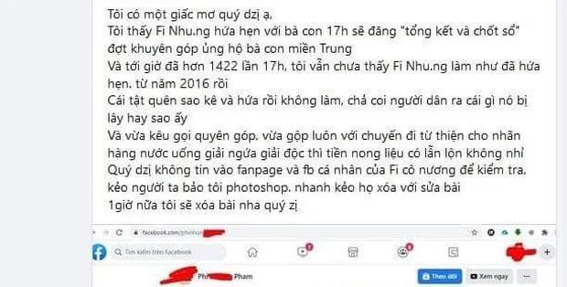 """Phi Nhung bị netizen soi lại điểm bất thường trong 2 đợt kêu gọi từ thiện miền Trung, ngâm"""" sao kê 1,8 tỷ suốt 5 năm chưa công khai?-2"""