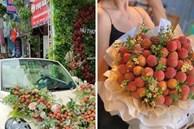 Thanh niên Bắc Giang chơi lớn không dùng hoa mà mua vải để trang trí xe cưới khiến dân mạng hết lời khen ngợi vì hành động nghĩa tình