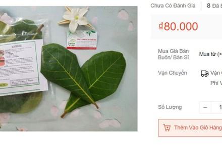 Lá bàng tươi rao bán khắp chợ mạng, giá lên đến 80.000 đồng/kg